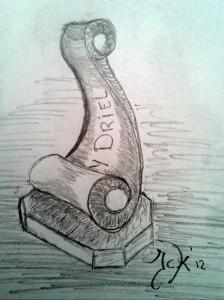 Ontwerp 'Ondernemersprijs 2012'.