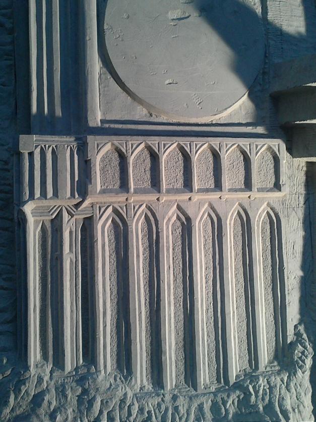Detail foto van de sculptuur aan de Londenlaan